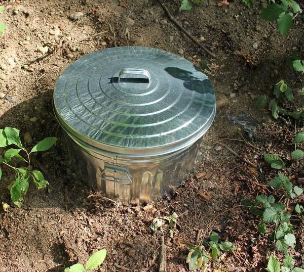 in ground composter garden