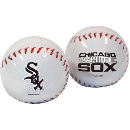 MLB White Sox Baseball Shaped Salt and Pepper Shakers, Multicolor