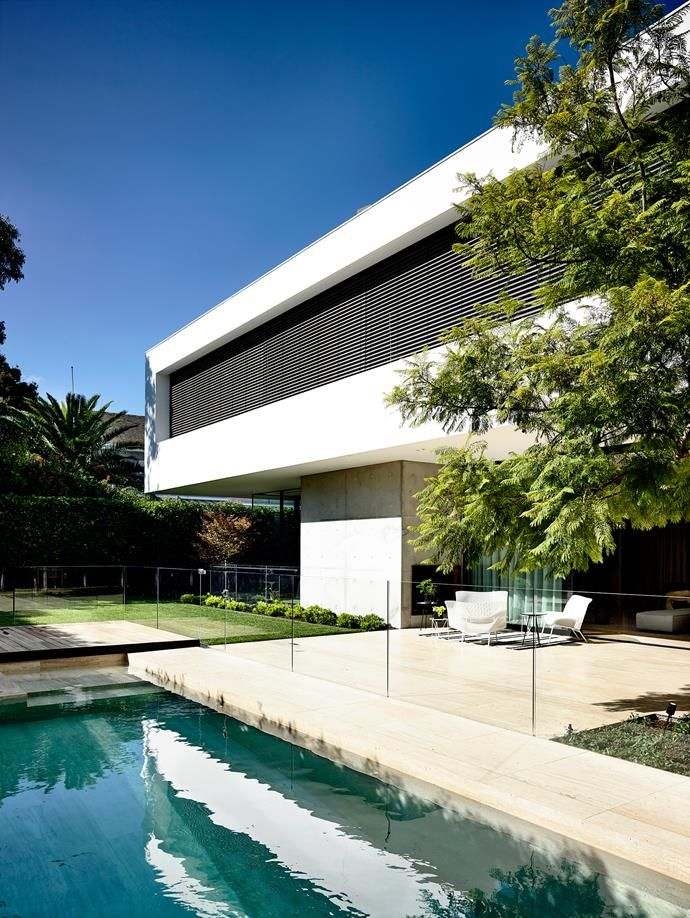 A backyard pool was an important feature in the architect's brief.