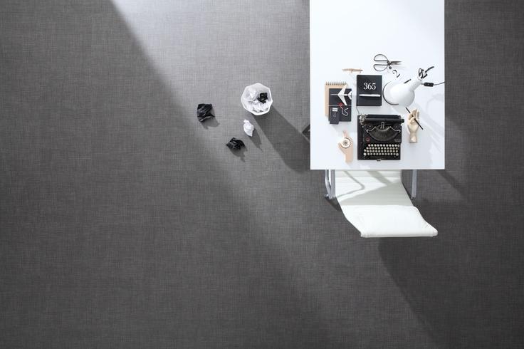 Laneway Vinyl Tile: Black Weave