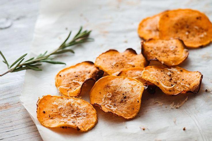 Baked Rosemary Parmesan Butternut Chips Recipe