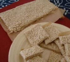 A Flavorful Blast from the Past: Recipes of Ancient Greece: Pasteli - Easy Sesame Honey Candy