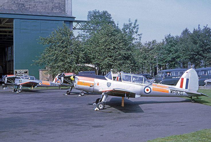De Havilland DHC-1 Chipmunk T.10 WP970 of 12 Air Experience Flight at Edinburgh (turnhouse) Airport in 1967