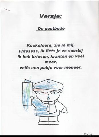 De postbode - Versje