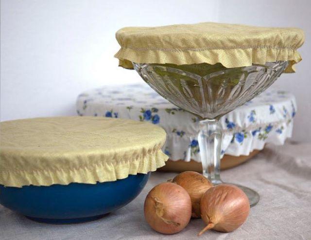 Plastbanta köket: Skydda maten med en hemsydd luva
