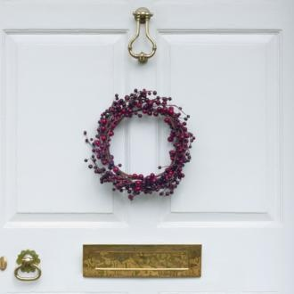 Make your wreath proud this winter with some very smart brass #frontdoor furniture