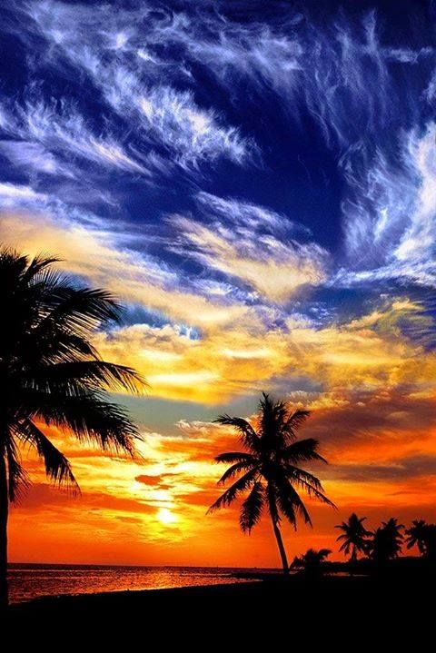 Key West beach., Florida