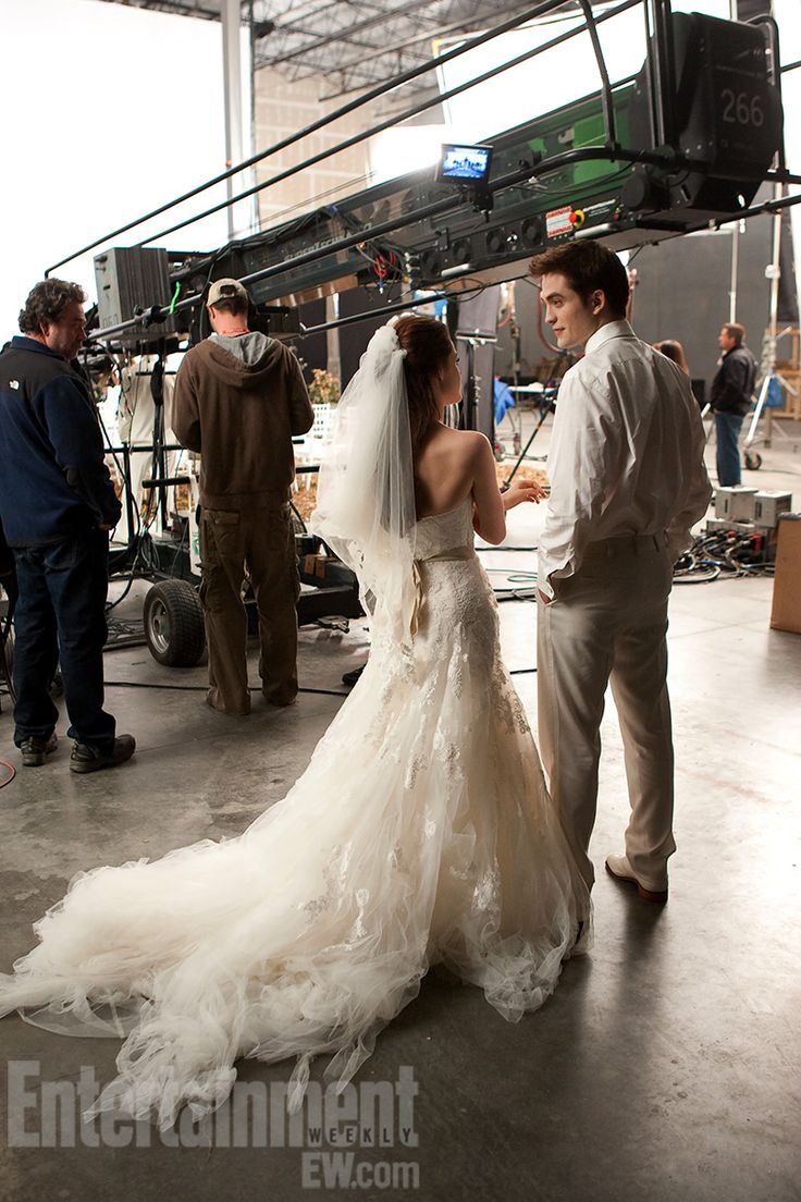 Breaking Dawn Part 1. Behind the scenes shot (from Entertainment Weekly) from Bella and Edward's nightmare wedding.