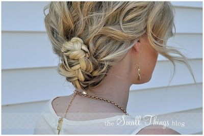 The Small Things Blog: hair tutorials -    40 ways to style shoulder-length hair (or long hair).