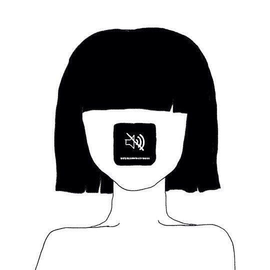 #sketch #girl #silence #blackandwhite #скетч