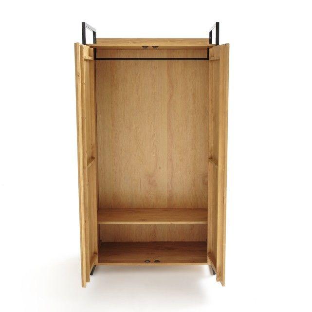 Hiba 2 Door Wardrobe With Hanging Rail Solid Pine Furniture 2