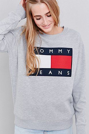Tommy Jeans - Sweat ras du cou gris exclusivité UO