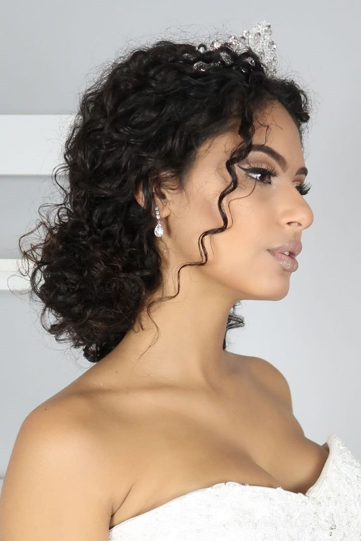 30 Wedding Hairstyles For Naturally Curly Hair Com Imagens