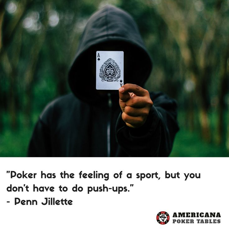 """That's a good point. So if I get asked if I do sports in my free time I say """"Yes, I play poker every Friday and Saturday. It's tough! Sometimes if I am not too exhausted I already start on Thursdays.""""  #pennjillette #poker #pokerissports #pokeronweekends #pokerathome"""