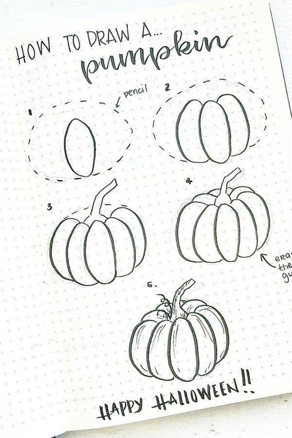 Beste Bullet Journal Doodle Ideen für Halloween & Herbst 2019 – #amp #beste #Bullet #Doodle #Fall