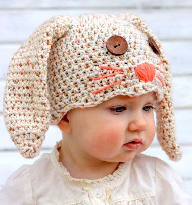 Cozy crochet bunny hat with button eyes (free pattern) // Horgolt meleg nyuszi sapka gomb szemekkel (horgolásmintával) // Mindy - craft & DIY tutorial collection