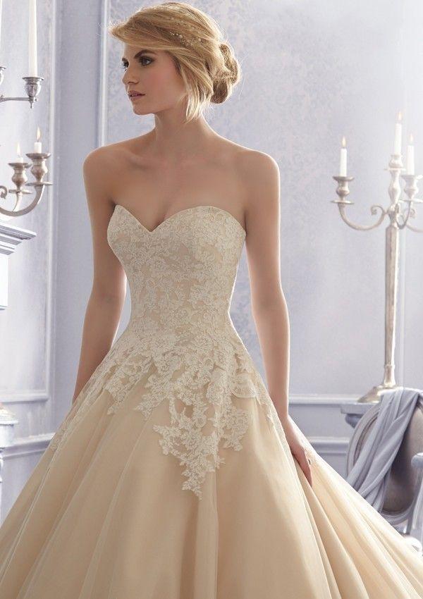 2014 Ball Gowns Wedding Dresses Appliques Lace Sweetheart Backless Court Train Bridal Gowns vestido de noiva LW