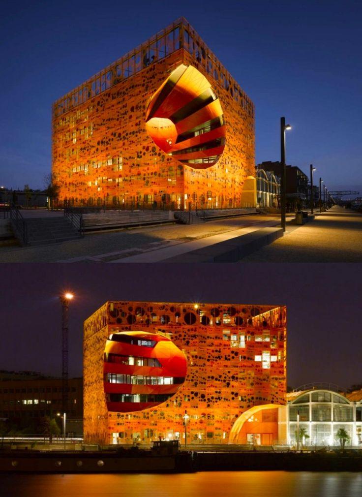 Orange cube, Lyon quartier confluence