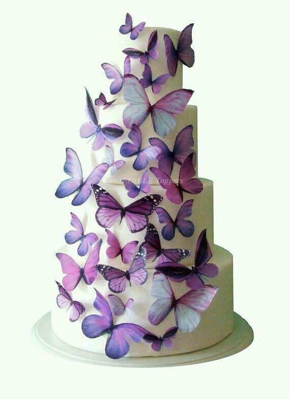 Pasteles  de  mariposas