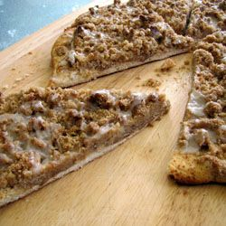 Godfather's Cinnamon Streusel Dessert Pizza!! OMG... Seriously????? This is my allll time favorite desert pizza and now there's a recipe? Mom & Courtney, I'm totally making this!!!!!