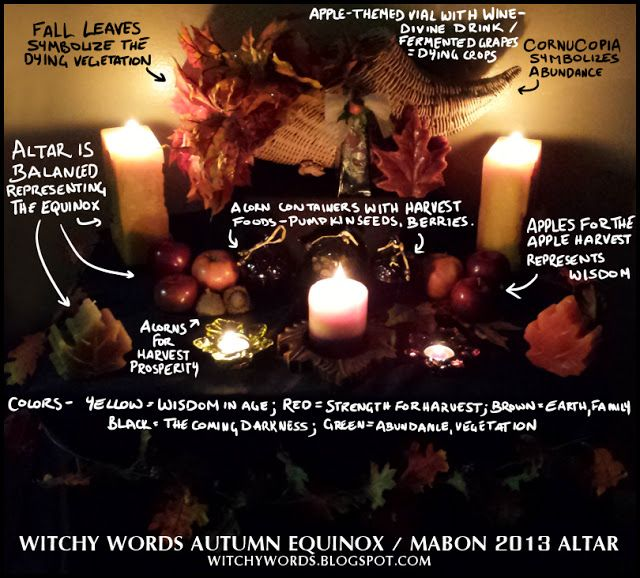 Witchy Words: Autumn Equinox / Mabon 2013 Altar #wicca #pagan #sabbat  - More pictures inside!