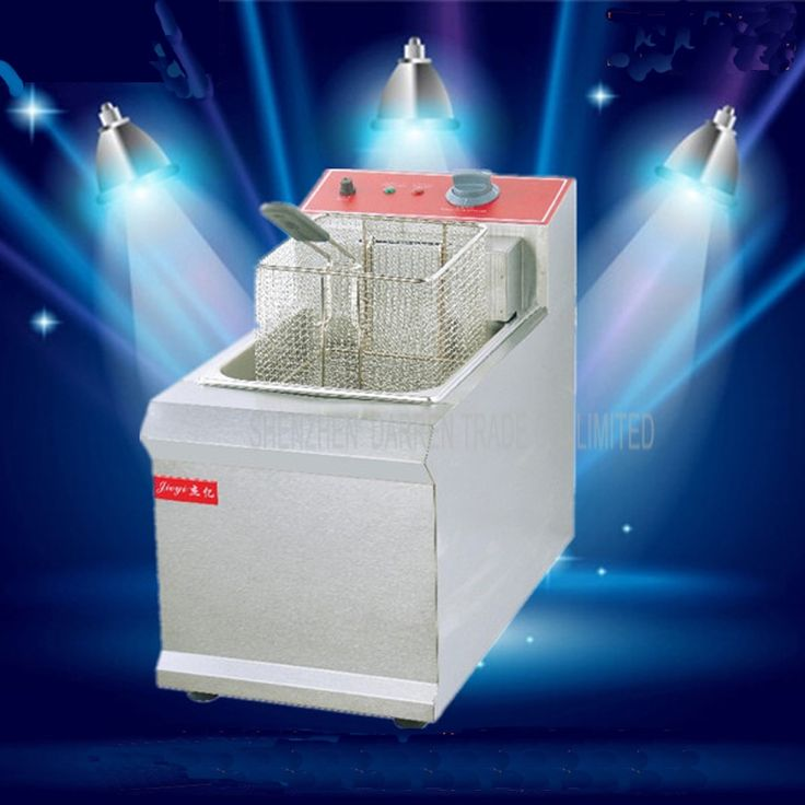 275.40$  Buy here - http://alikc4.worldwells.pw/go.php?t=32695351071 - 2PC  FY-901 Commercial  Single cylinder  Open Fryer Chicken Frying Equipment Commercial Deep Fryer 275.40$