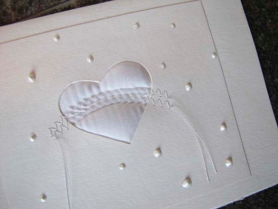 hand made blank card for wedding or shower
