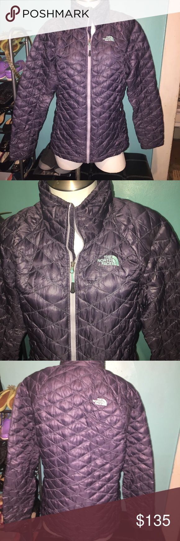 North Face thermoball jacket Perfect condition!! Super warm. Purple and Tiffany blue inside. Best jacket ever!! OPEN TO OFFERS! The North Face Jackets & Coats Puffers