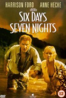 """357 Days of Romantic Films: Till Valentine's: ...SIX DAYS SEVEN NIGHTS... Once in awhile, when all the stars align, a formula film works. LOVE STORY AD CRASH AND STRANDED ON TROPICAL ISLAND. Rom-Com-Action offers september romance hi-jinks here, throw in blood thirsty pirates, a heart on the mend and its a linear shot to an engaging film. Thanks Han Solo. Chemistry works here & who knew Anne Hache could B smart & cute beach blonde. QT:""""I've flown with you twice & you've crashed half the…"""