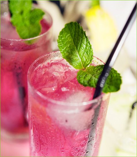 "A collection of healthy ""mocktail"" recipes -- without the alcohol. Lemon Berry Mojito, Very Berry Cosmo and more!"