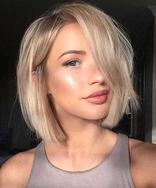 cute short blonde bob hairstyle for girls - short hairstyles 2017 -
