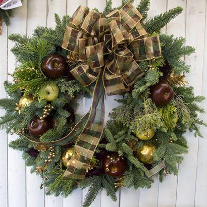 Custom Designer Christmas Wreaths   Designer Hand Made Wreaths   Fresh