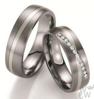 Prachtige titaan witgouden ringen