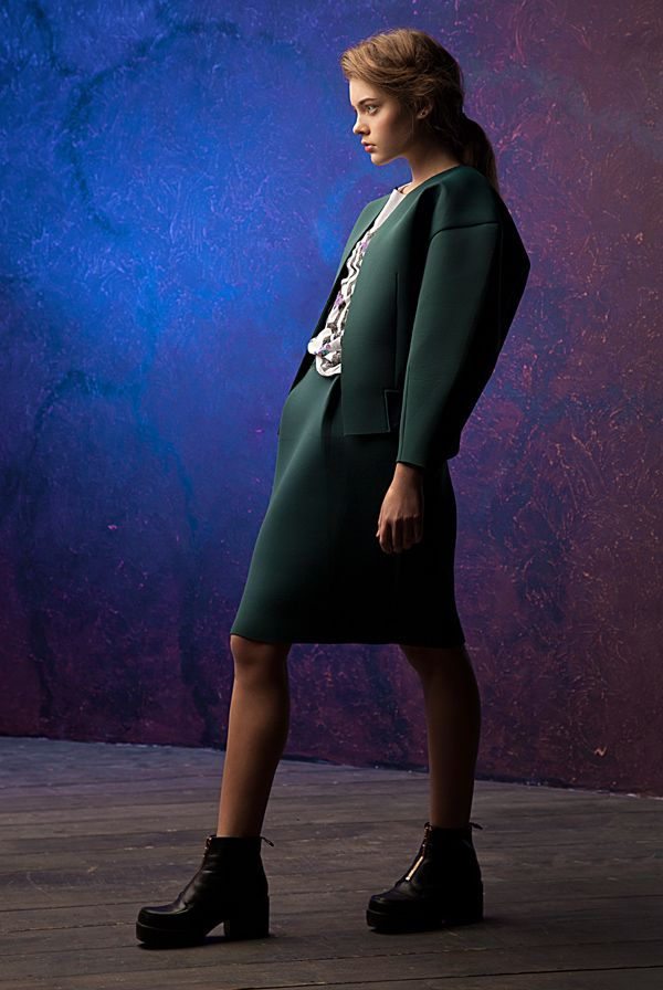 Lookbook fall-winter 2014-15. Neoprene skirt -100$ #25twentyfive25 #lookbook #fashion #neoprene #skirt #jacket