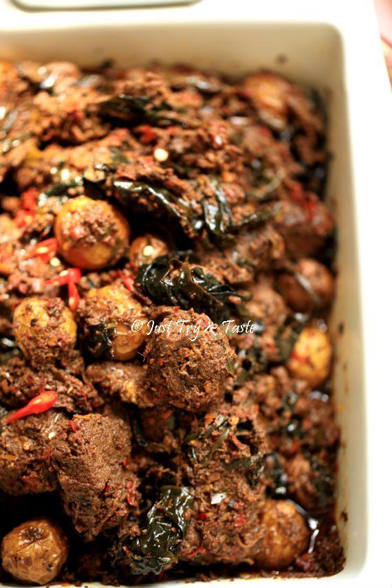 Resep Rendang Daging Sapi Spesial Dengan Daun Puding Makanan Dan Minuman Resep Makanan Daging Sapi