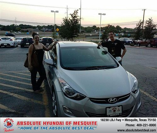 Thank you to Ryan  Moran on the 2013 new car  from Larry Green  and everyone at Absolute Hyundai!
