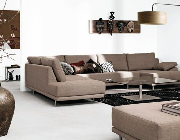 Attractive Modern Design Living Room With White Wall Decoration White Floor . Amazing Design
