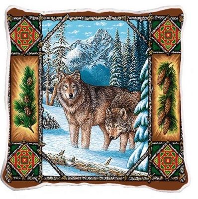 Gray Wolf Lodge Tapestry #Pillow #Wolf Wolves #Wildlife #Home #Decor #BeddingNMore