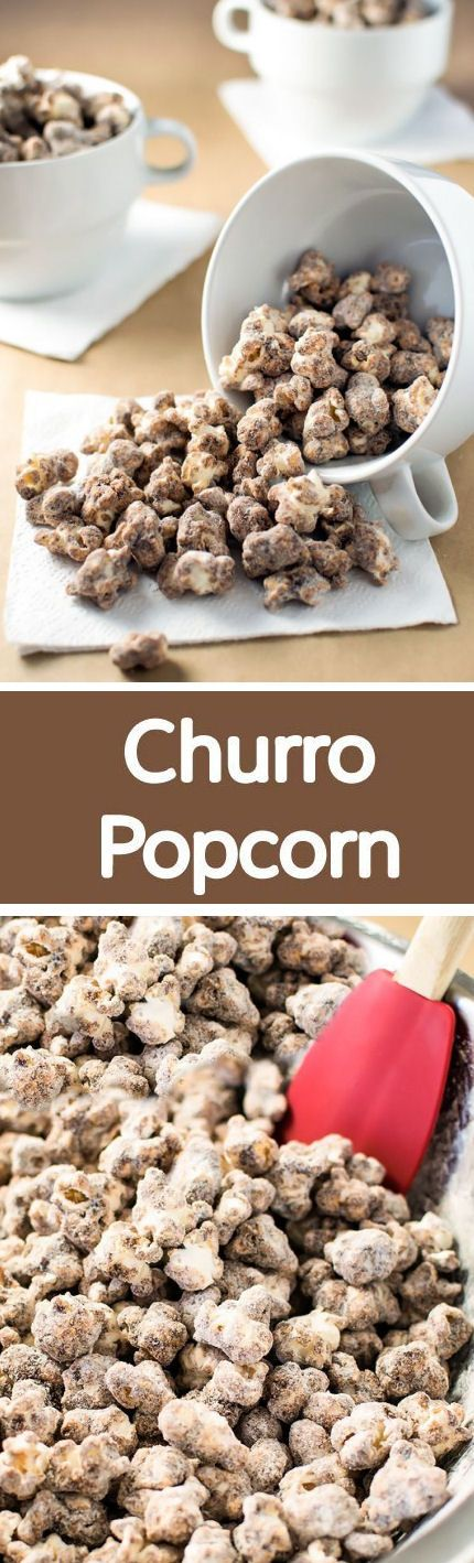 Churro Popcorn! Skip the deep fryer and make churro popcorn completely from scratch. It's sweet, chewy, and crunchy all at the same time!