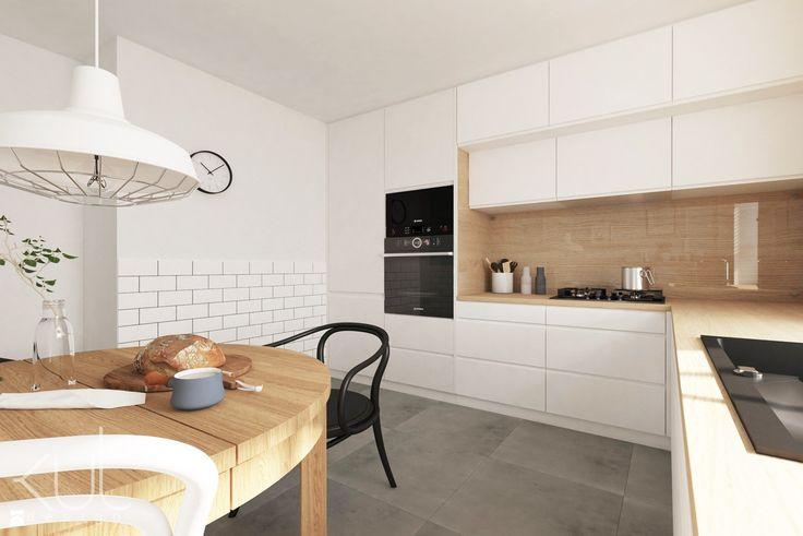 Projekt kuchni z jadalnią - zdjęcie od kuldesign - Kuchnia - Styl Skandynawski - kuldesign