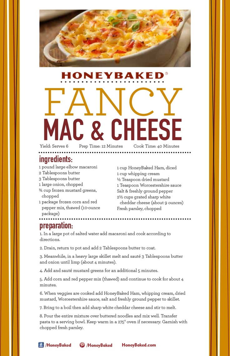 Here S A Super Easy And Delicious Macaroni And Cheese Recipe You Can Make Using Leftover Ham From Honeybaked Ham Douglasville