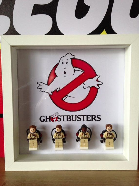 Ghostbusters Minifigure Display Frame LEGO by CapsNCuffs on Etsy