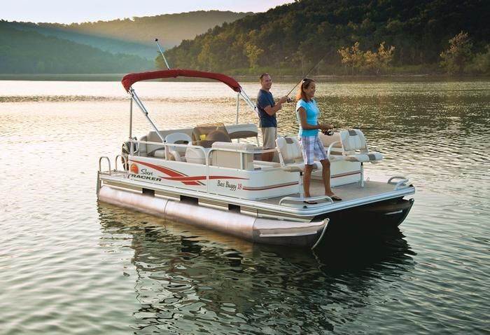 SunTracker Pontoon Boat by Rocky Mountain RV & Marine
