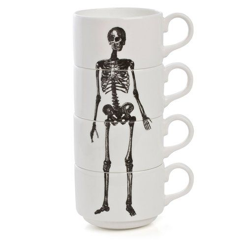 .Skull, Skeletons Cups, Cups Stacked, Coffe Cups, Skeletons Espresso, Coffee Cups, Phoebe Richardson, Espresso Cups, Products