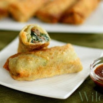 Bacon cheeseburger egg rolls- more stuff to feed the hungry boys!