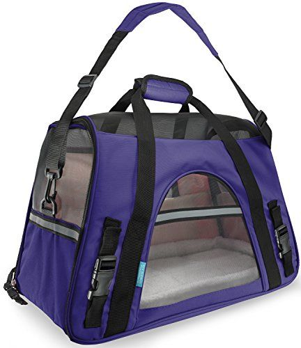 Take your pet along in style with the OxGord Pet Carrier. Ideally suited for travel this carrier boasts a padded shoulder strap convenient pockets safety belt washable fleece bedding and ample me...