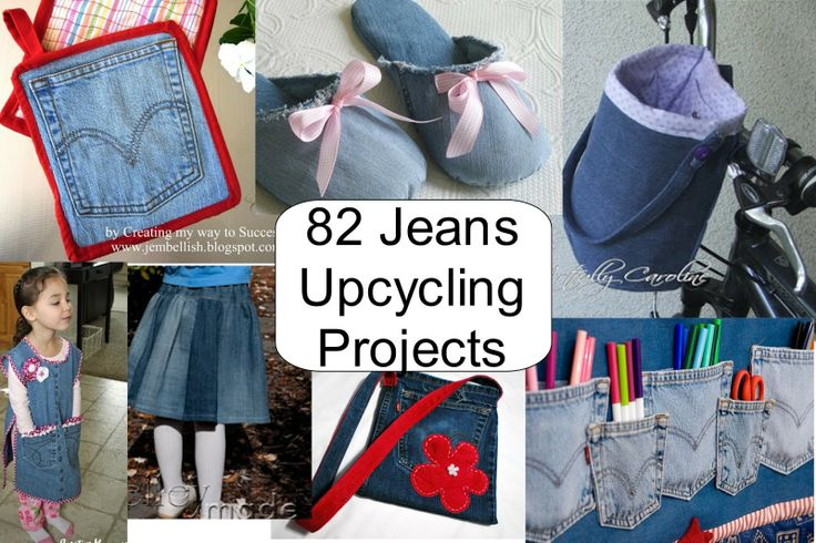 Best Ideas for Upcycling Jeans - 82 projects!~