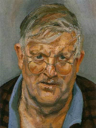 david hockney by lucien freud