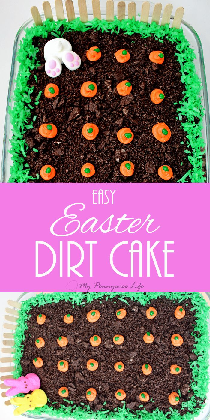 Easy Easter Dirt Cake: An easy, festive, no-bake Easter dessert. (Gluten-free op… – All time BEST RECIPES on Pinterest!