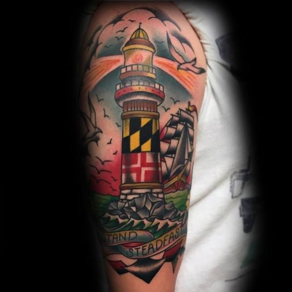 50 Maryland Flag Tattoo Ideas For Men State Flag Designs Flag Tattoo Maryland Flag Tattoos